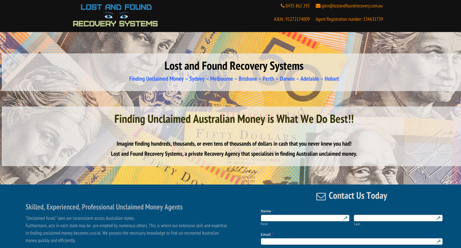 Lost and Found Recovery Systems